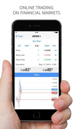 Plataforma Metatrader 4 para iPhone