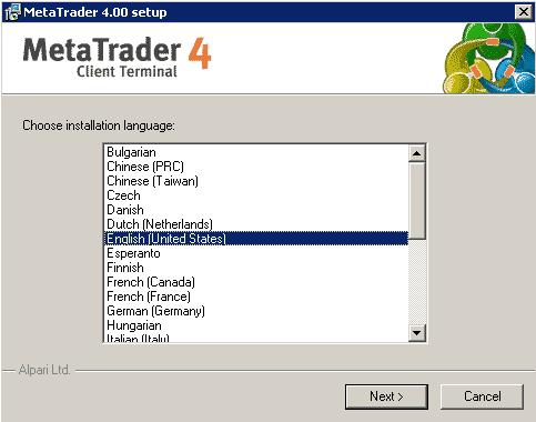 Plataforma de trading Metatrader
