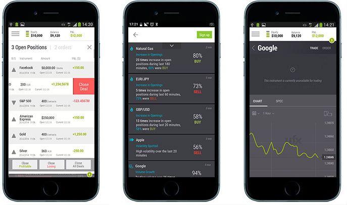 Plataformas para dispositivos móviles de UFX