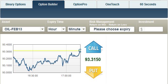Ejemplo plataforma Option Builder para opciones personalizadas