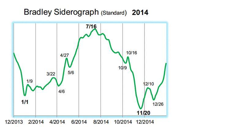 Figura 1: Siderógrafo de Bradley del S&P 500 2014