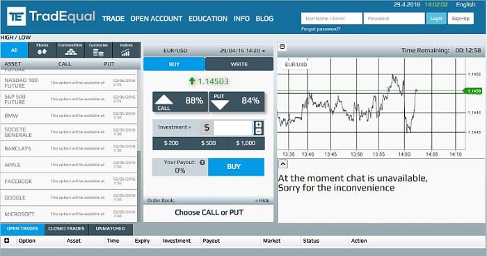 Imagen de la plataforma de trading de TradEqual