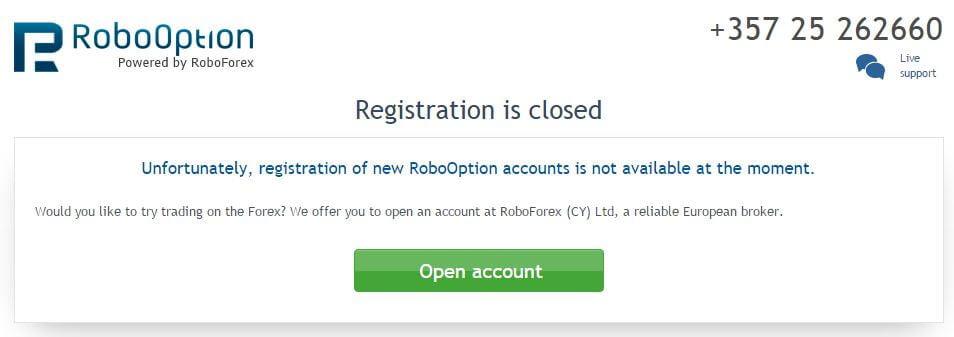 Noticia de cierre de RoboOption