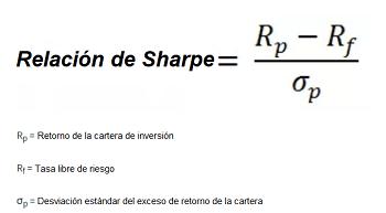 Fórmula de la relación de Sharpe