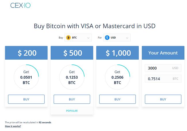 plataforma de compra-venta de Cex.io