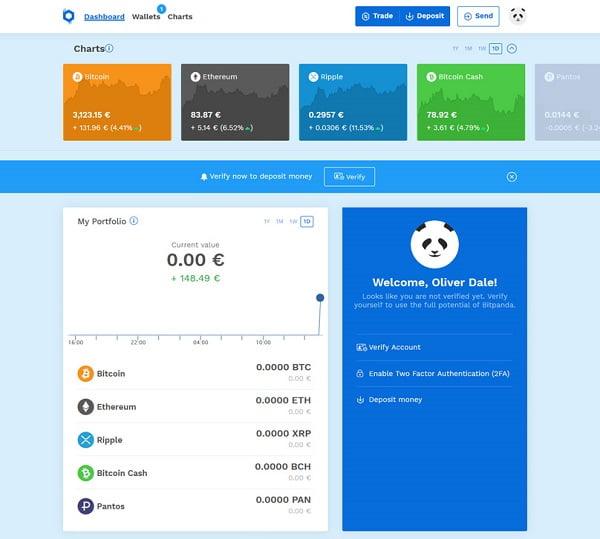 Plataforma de usuario de Bitpanda