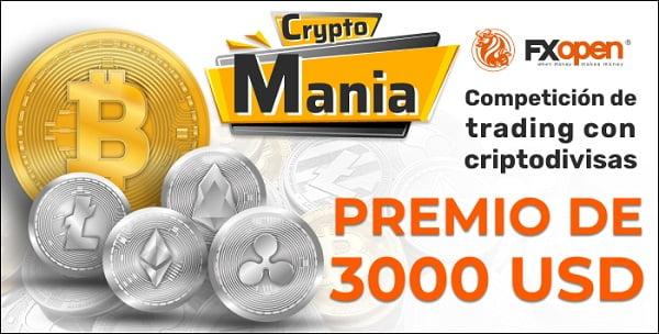 Concurso de trading Cryptomania de FXOpen para cuentas demo