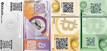Billeteras de papel de Bitcoin