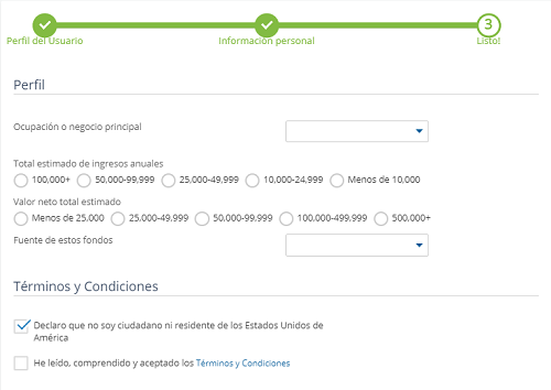 Proceso de registro en Avatrade