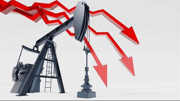 Petróleo crudo Brent alcanza mínimo de 21 años