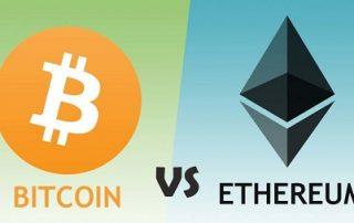 Bitcoin comparado con Ethereum