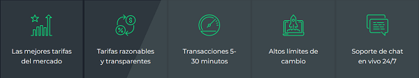 Ventajas de Changelly