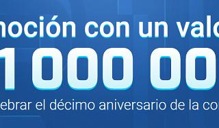 Promoción Décimo Aniversario de RoboForex
