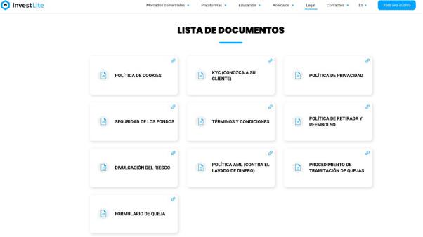 Documentos del broker InvestLite