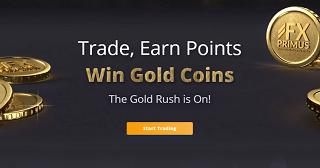 Promoción Gold Rush de FXPrimus